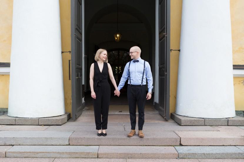 Vihkihetkeen 9.9.2017 Oulun tuomiokirkossa osallistui seitsemän paria.